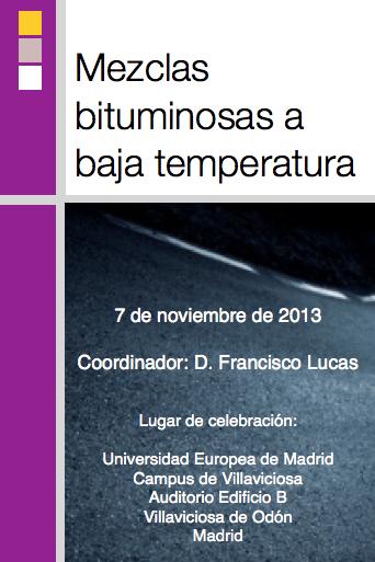 Mezclas bituminosas a baja temperatura