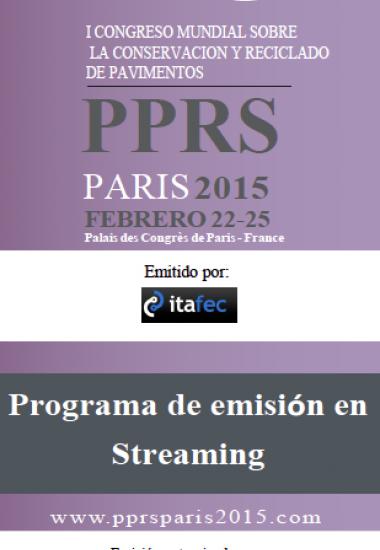 Exclusivo para Costa Rica, Nicaragua, Panamá, Honduras y El Salvador. PPRS Paris 2015, patrocinado por Lanamme UCR