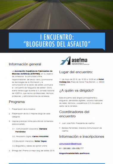 I Encuentro #BloguerosdelAsfalto