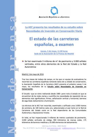 Presentación del informe de inspección visual de la AEC