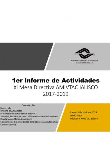 Primer informe de actividades de AMIVTAC Jalisco
