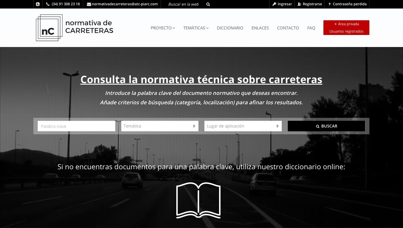 ITAFEC desarrolla la nueva web de la ATC sobre legislación y normativa de carreteras