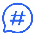 Crear hashtag <br/>específico