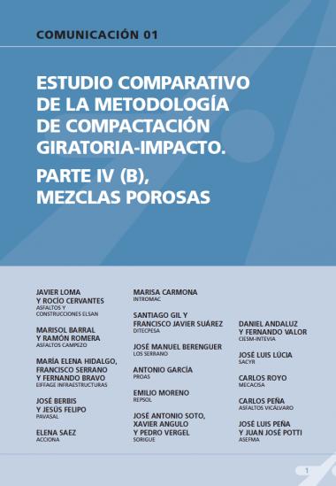 Estudio comparativo de la metodología de compactación giratoria-impacto. Parte IV (B), mezclas porosas