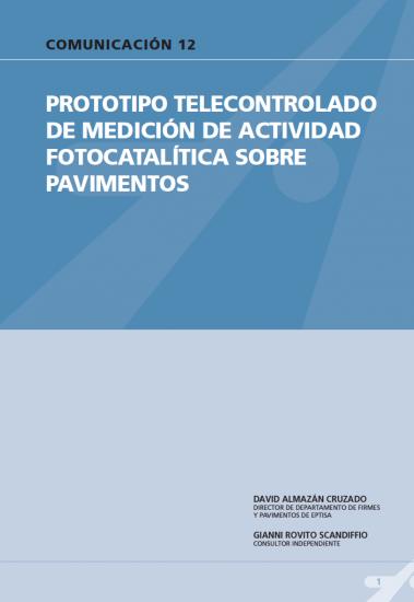 Prototipo telecontrolado de medición de actividad fotocatalítica sobre pavimentos