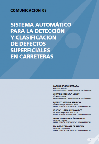 Sistema automático para la detección y clasificación de defectos superficiales en carreteras.