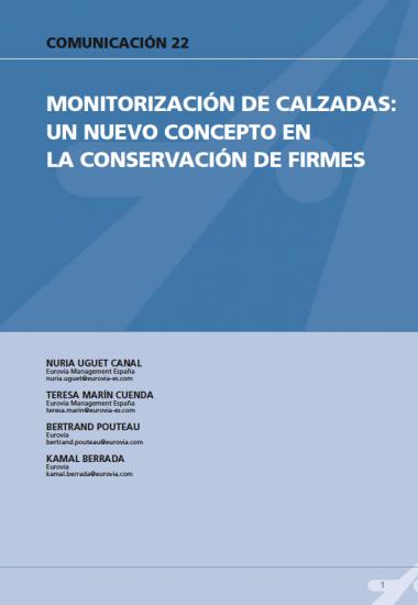 Monitorización de calzadas: un nuevo concepto en la conservación de firmes