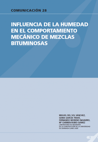 Influencia de la humedad en el comportamiento mecánicos de mezclas bituminosas