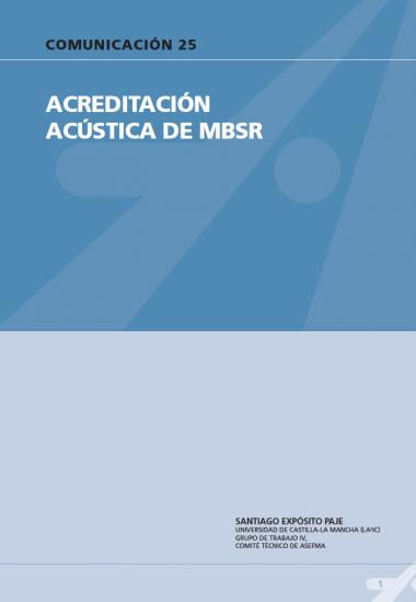 Acreditación acústica de MBSR.