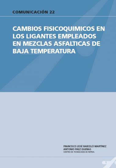 Cambios fisicoquímicos en los ligantes empleados en mezclas asfálticas de baja temperatura