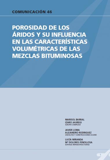 Porosidad de los áridos y su influencia en las características volumétricas de las mezclas bituminosas