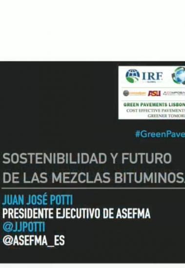 """Video de mi presentación en Lisboa 2017 sobre """"Sostenibilidad y futuro de las mezclas bituminosas"""""""
