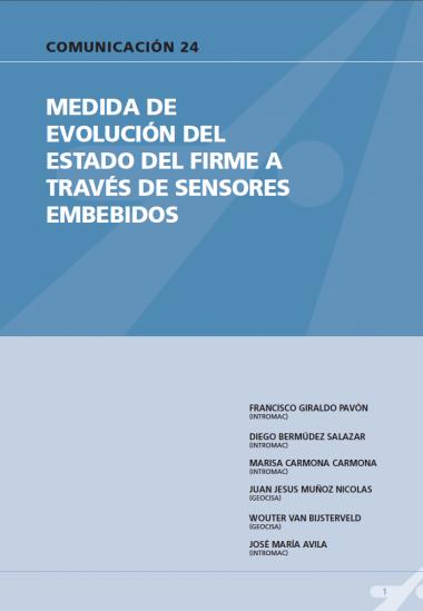 Medida de evaluación del estado del firme a través de sensores embebidos.