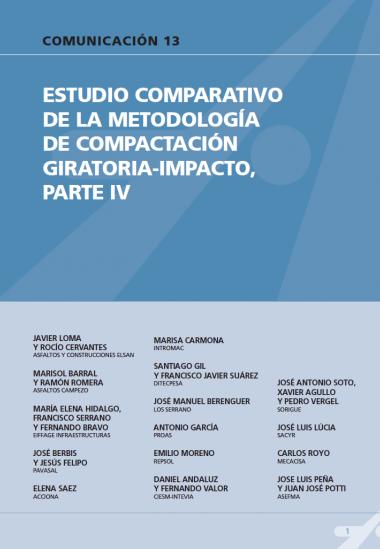 Estudio comparativo de la metodología de compactación giratoria-impacto, parte IV