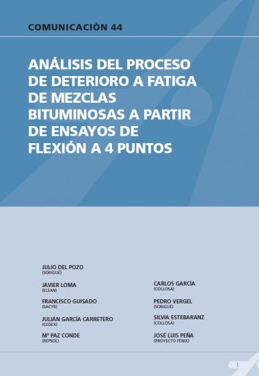 Análisis del proceso de deterioro a fatiga de mezclas bituminosas a partir de ensayos de flexión a 4 puntos