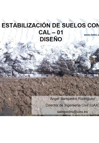 Estabilización de suelos con cal. Diseño