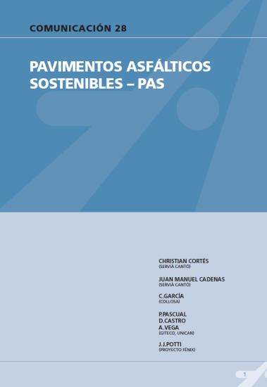 Pavimentos asfálticos sostenibles – Pas.