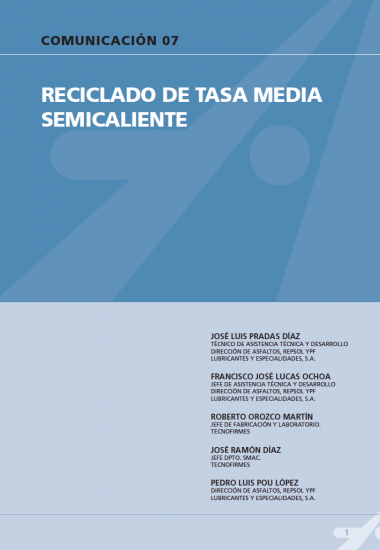 Reciclado de tasa media semicaliente