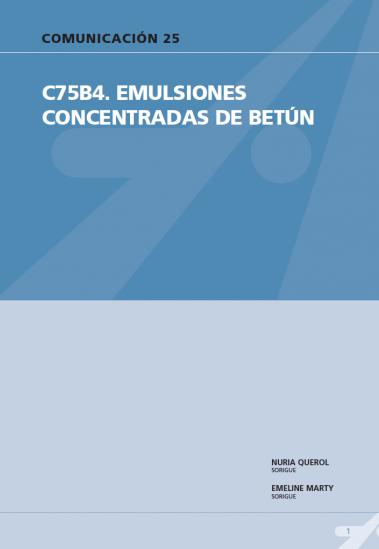 C75B4. Emulsiones concentradas de betún