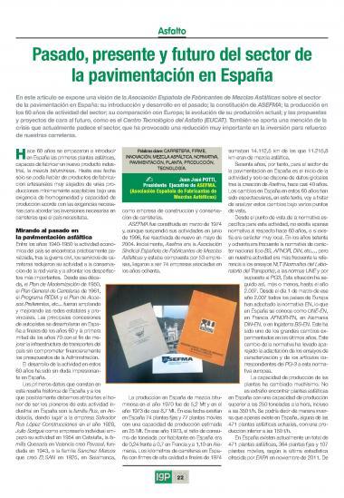 Pasado, presente y futuro del sector de la pavimentación en España