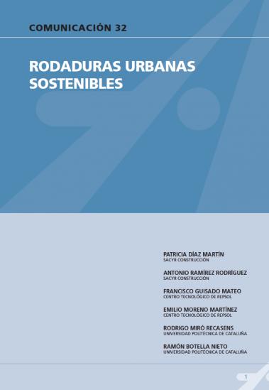 Rodaduras urbanas sostenibles