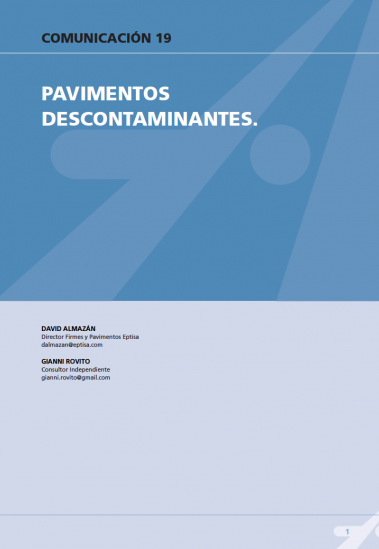 Pavimentos descontaminantes