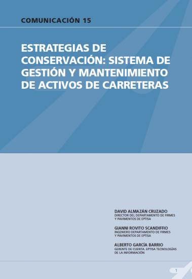 Estrategias de conservación: sistema de gestión y mantenimiento de activos de carreteras.