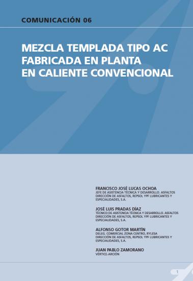 Mezcla templada tipo AC fabricada en planta en caliente convencional