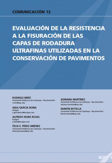 Evaluación de la resistencia a la fisuración de las capas de rodadura ultrafinas utilizadas en la conservación de pavimentos
