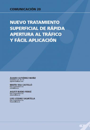Nuevo tratamiento superficial de capa ultrafina con rápida abertura al tráfico y fácil aplicación