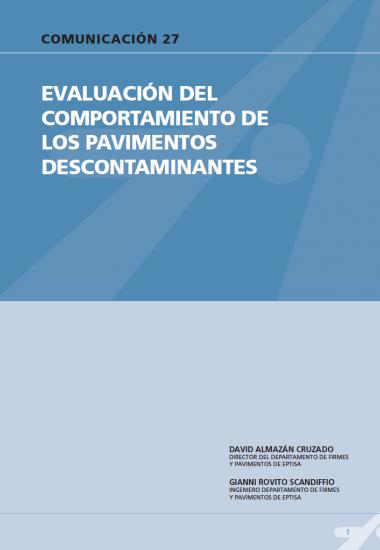 Evaluación del comportamiento de los pavimentos descontaminantes