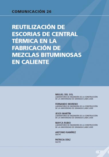Reutilización de escorias de central térmica en la fabricación de mezclas bituminosas en caliente