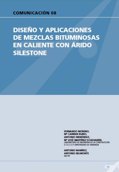 Diseño y aplicaciones de mezclas bituminosas en caliente con árido Silestone.