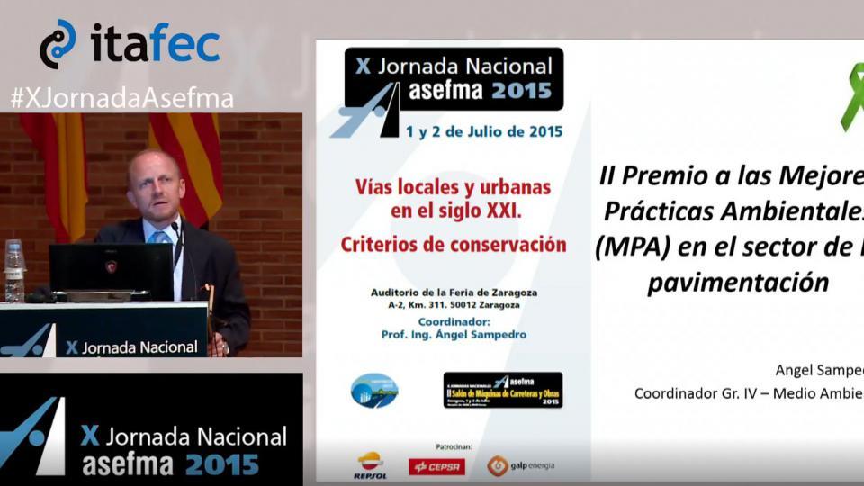 X JN Asefma 2015 - II Premio a las Mejores Prácticas Ambientales (MPA) en el sector de la Pavimentación