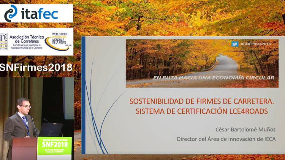 Sostenibilidad de firmes de carretera. sistema de certificación lce4roads