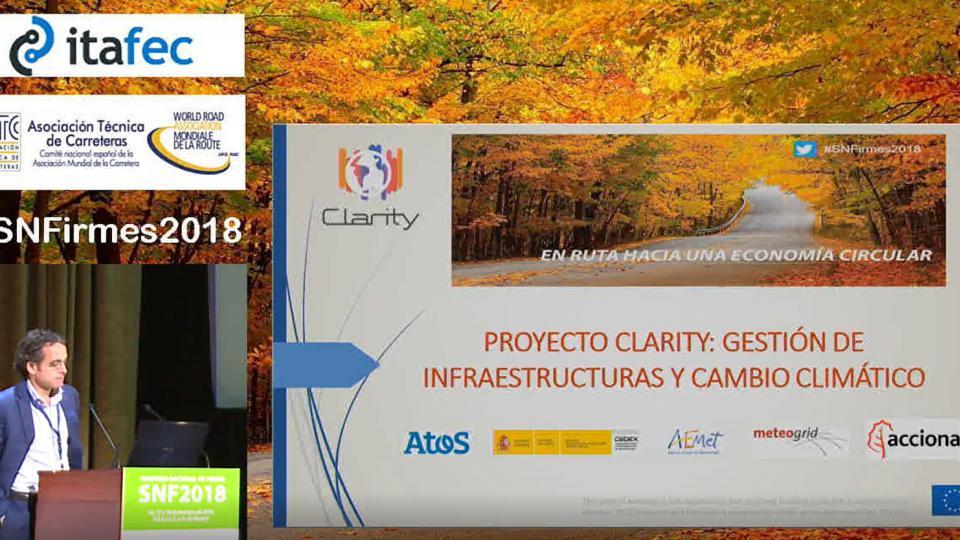 Gestión de infraestructuras y cambio climático en el marco del proyecto CLARITY