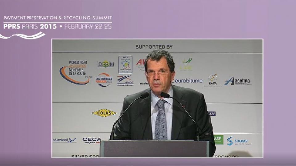 Discurso del Presidente del Congreso, Jean-François Corté (PIARC, Francia)