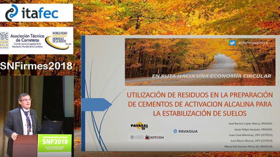 Utilización de residuos en la preparación de cementos de activación alcalina para la estabilización de suelos