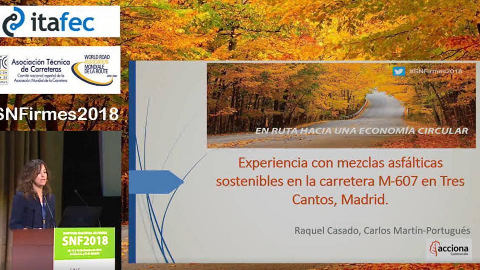 Experiencia con mezclas asfálticas sostenibles en la carretera M-607 en Tres Cantos, Madrid