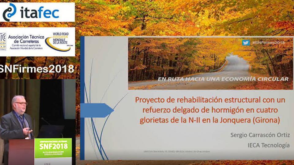 Proyecto de rehabilitación estructural con un refuerzo delgado de hormigón en cuatro glorietas de la N-II en la Jonquera (Girona)