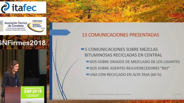 """Presentación de las comunicaciones de la Sesión 3 """"Soluciones Innovadoras, Materiales y Procesos: Reciclado de Pavimentos"""""""