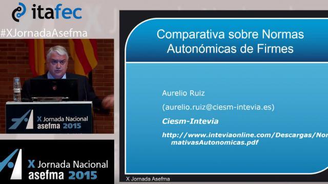 X JN Asefma 2015 - Conferencia sobre Comparativa de normas autonómicas de firmes