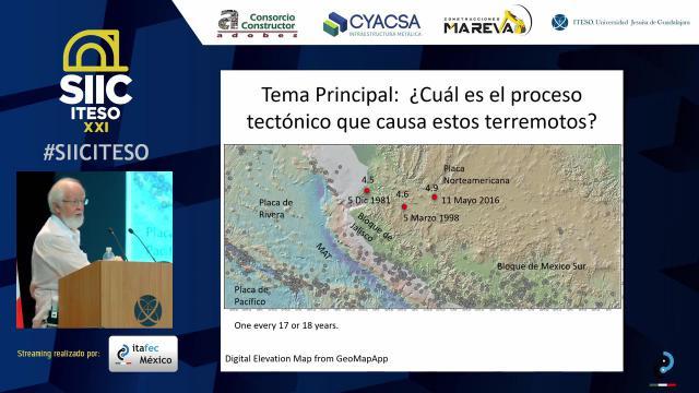 La tectónica del Oeste de México y su relación sísmica con Guadalajara
