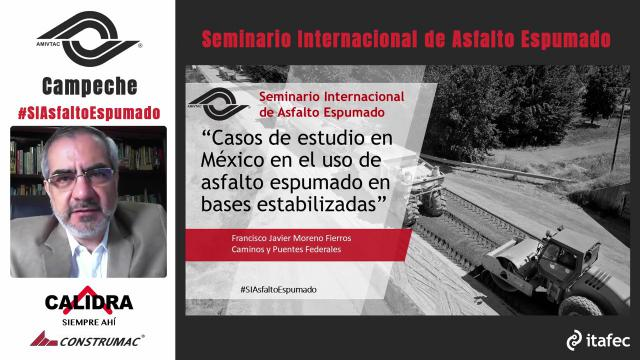 Case studies in Mexico, using foamed bitumen stabilized bases.