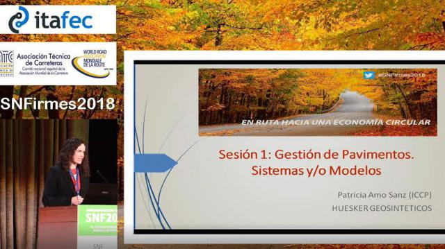"""Presentación de las comunicaciones de la sesión 1 """"Gestión de pavimentos, Sistemas y/o modelos"""""""