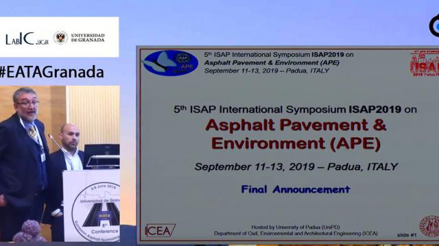 5th ISAP International Symposium ISAP2019 on Asphalt Pavement & Environment (APE). Final announcement